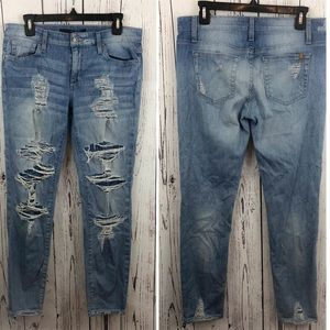 •Joe's Jeans• Super Distressed Skinny Jeans 28